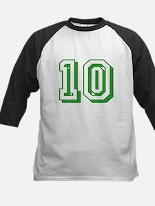 10 Green Birthday Kids Baseball Jersey