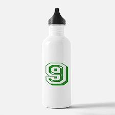 9 Green Birthday Water Bottle