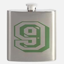 9 Green Birthday Flask
