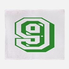 9 Green Birthday Throw Blanket