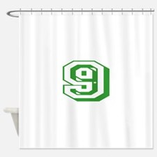 9 Green Birthday Shower Curtain