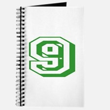 9 Green Birthday Journal