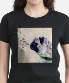 Pug and Flowers T-Shirt