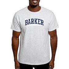 BARKER design (blue) T-Shirt