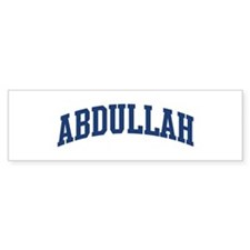 ABDULLAH design (blue) Bumper Bumper Sticker