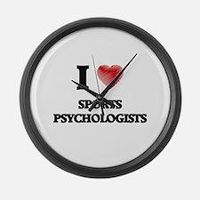 I love Sports Psychologists Large Wall Clock
