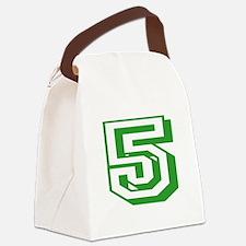 5 Green Birthday Canvas Lunch Bag