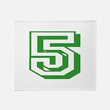 5 Green Birthday Throw Blanket