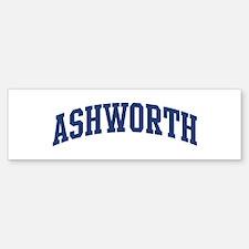 ASHWORTH design (blue) Bumper Bumper Bumper Sticker