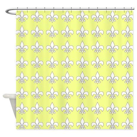 cute fleur de lis shower curtain