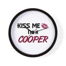 Kiss Me I'm a COOPER Wall Clock