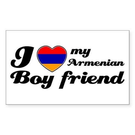I love my Armenian Boyfriend Rectangle Sticker