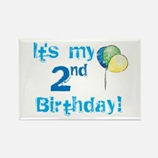 It's My 2nd Birthday Rectangle Magnet