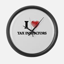I love Tax Inspectors Large Wall Clock