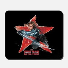 The Winter Soldier Red Star - Captain Am Mousepad