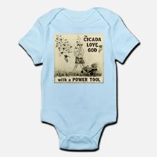 Cicada Love God with a Power Tool Infant Bodysuit