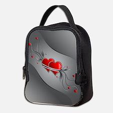 Double Hearts Neoprene Lunch Bag