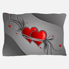 Double Hearts Pillow Case