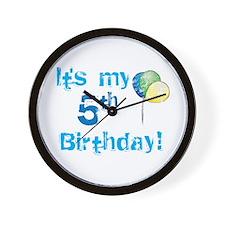 It's My 5th Birthday Wall Clock