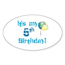 It's My 5th Birthday Oval Decal