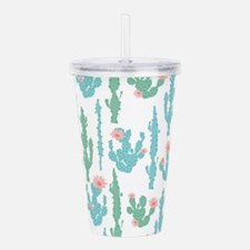 Cactus Pattern - Cute Acrylic Double-wall Tumbler