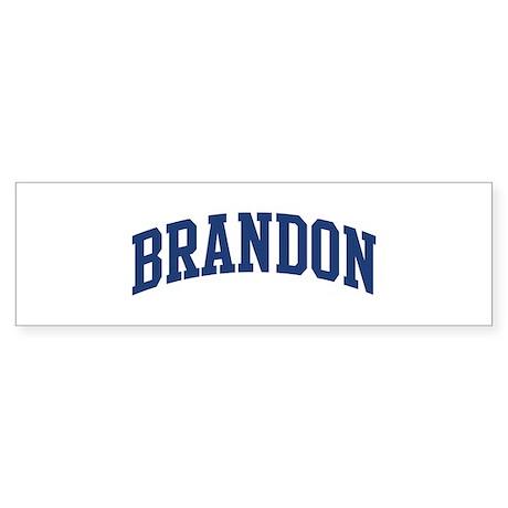 BRANDON design (blue) Bumper Sticker