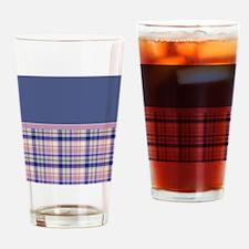 Plaid pink Drinking Glass