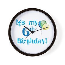It's My 6th Birthday Wall Clock