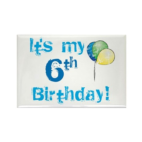 It's My 6th Birthday Rectangle Magnet (10 pack)