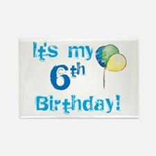 It's My 6th Birthday Rectangle Magnet