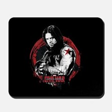 The Winter Soldier Red Circle - Captain Mousepad