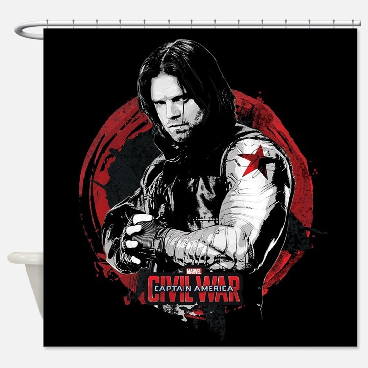 Captain america the winter soldier shower curtains captain america the winter soldier fabric - Captain america curtains ...