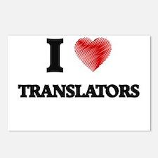 I love Translators Postcards (Package of 8)