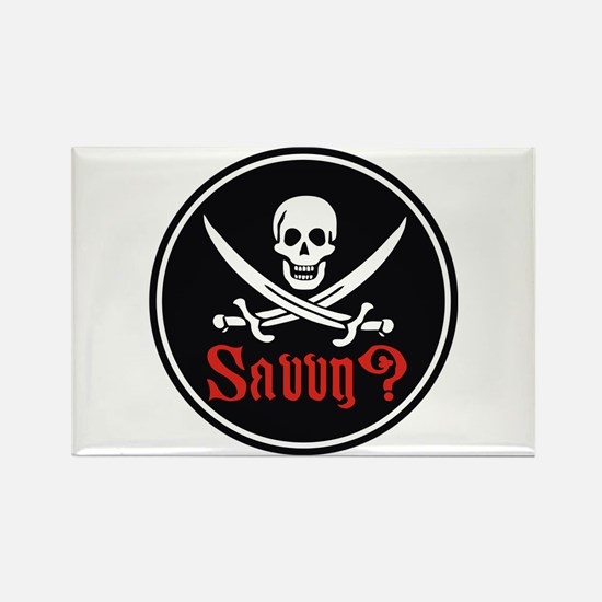 Savvy? Pirate Flag Rectangle Magnet