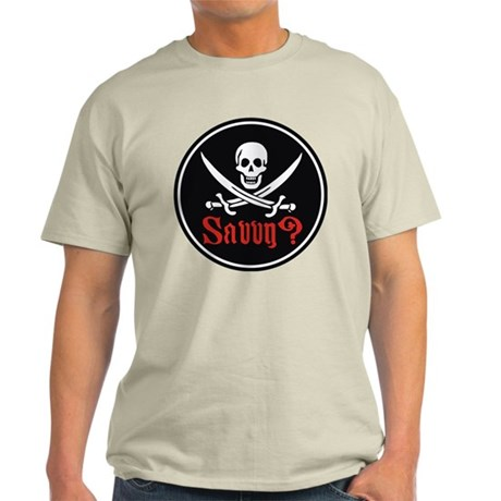 Savvy? Pirate Flag Light T-Shirt
