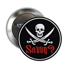 Savvy? Pirate Flag Button