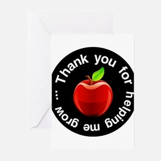 Teacher Apple Thank You Greeting Cards (Pk of 20)