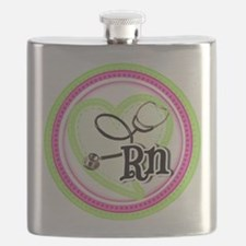 Nurse RN Stethoscope Flask