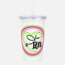 Nurse RN Stethoscope Acrylic Double-wall Tumbler