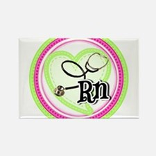 Nurse RN Stethoscope Rectangle Magnet (100 pack)