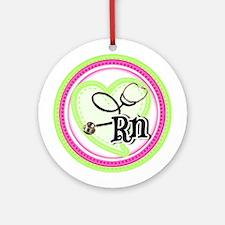 Nurse RN Stethoscope Round Ornament