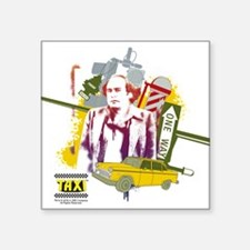 "Taxi Louie De Palma Square Sticker 3"" x 3"""