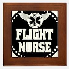 Flight Nurse Framed Tile