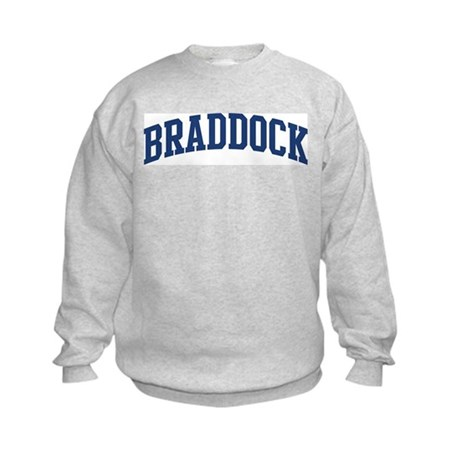 BRADDOCK design (blue) Kids Sweatshirt
