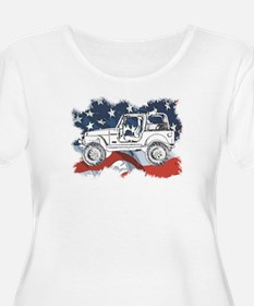 wranglerflag copy.jpg Plus Size T-Shirt