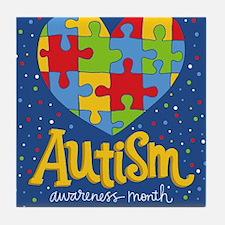 autism awareness month Tile Coaster