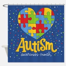 autism awareness month Shower Curtain