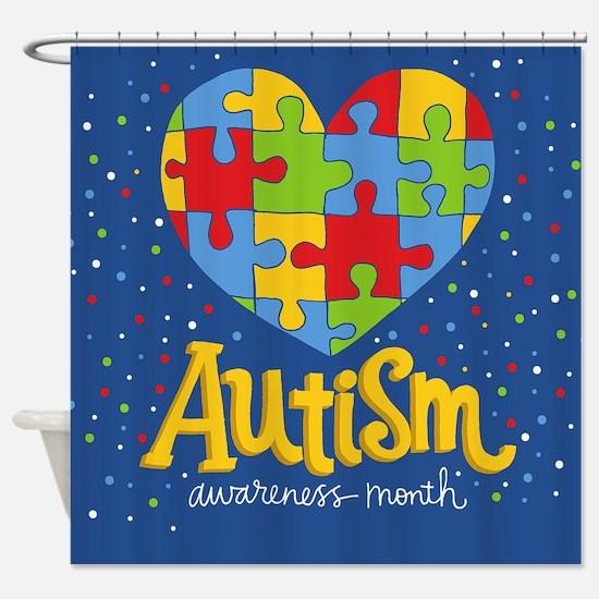 autism awareness month Shower Curtain