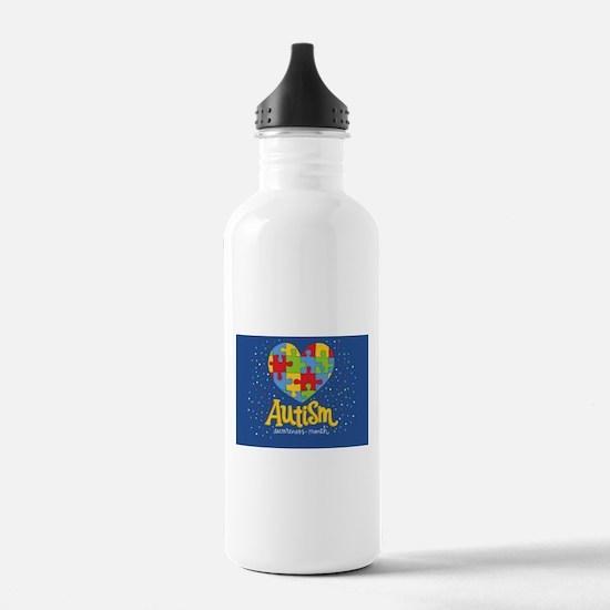 autism awareness month Water Bottle