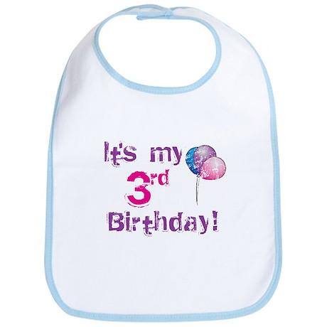 It's My 3rd Birthday Bib
